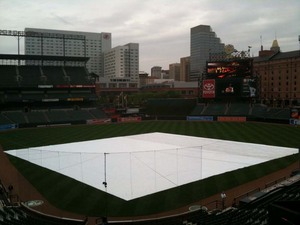Tarp on the field, Baltimore.jpg